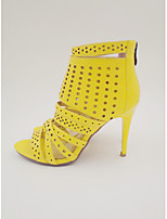 Women's Shoes PU High Heels Fashion Gladiator Sandals Party Shoes yellow