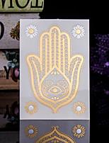 4PCS Flash Tattoo Metallic Tattoo Flash Gold Tattoo Taty Tatoo Tatouage Temporary Tattoo Sticker Metal Tatoos Buddha