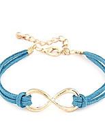 Fashion 25cm Women's Multicolor Leather Chain