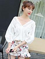 Women's White Blouse ½ Length Sleeve