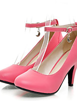 Women's Shoes  Stiletto Heel Round Toe Pumps/Heels Outdoor/Office & Career/Casual Black/Red/Beige