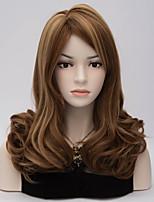 European and American Wind Brown Side Gradient Curly Hair Wig