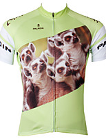 PaladinSport Men's Short Sleeve Cycling Jersey Raccoon Dog New Style Bike Wear Bicycle Apparel 100% Polyester