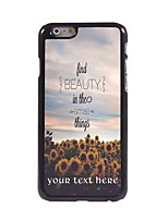 Personalized Gift Find Beauty Things Design Aluminum Hard Case for iPhone 6 Plus