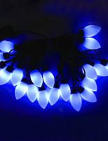 4w 5 metros de iluminación cadena modelado bulbo 20pcs diámetro exterior llevado súper grandes luces de la bola cónicos, de color azul