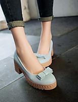 Women's Shoes Stiletto Heel Round Toe Pumps/Heels Office & Career/Dress Blue/Pink/Beige
