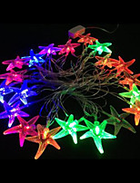 2W 4 Meter Outer Diameter 20pcs Bulb LED Modeling String Lighting Starfish Lights, RGB Color
