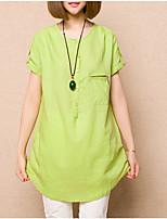 Women's Blue/Pink/Green Shirt Short Sleeve
