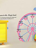 stickers muraux autocollants de mur, les modernes Ferris roue PVC stickers muraux
