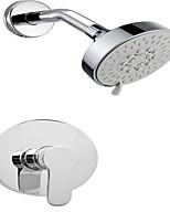 Rain Waterfall Bathroom Showerhead W/ Tub Spout Chrome Shower Faucet