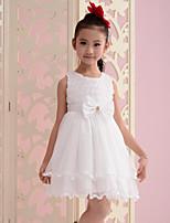 Girl's Summer Sleeveless Bow Flowers Dresses (Cotton Blends)