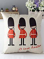 London soldiers Patterned Cotton/Linen Decorative Pillow Cover