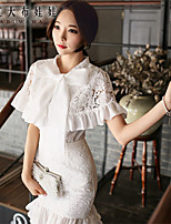 Pink Doll®Women's Casual/Bodycon/Lace Ruffle Suits