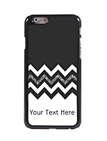 Personalized Gift The Black and White Design Aluminum Hard Case for iPhone 6 Plus