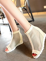 Women's Shoes  Wedge Heel Wedges/Open Toe Sandals Dress Black/White/Beige