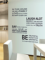 Wall Stickers Wall Decals, Black Letters We Are Family PVC Wall Stickers