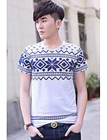 Men's Korea Fashion Print Mens T-shirt