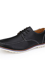Men's Shoes Casual Faux Leather Oxfords Black/Brown/White