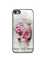Personalized Gift Skull and Rose Design Aluminum Hard Case for iPhone 4/4S