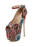 Women's Shoes  Stiletto Heel Peep Toe Sandals Casual Blue/Red