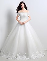 Princess Floor-length Wedding Dress -Strapless Tulle