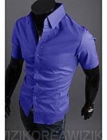 15 Color M-2XL High-Quality Mens Shirts Fashion 2015 Short Sleeve Shirt