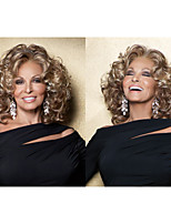 Hot sale Medium length Synthetic wigs Curly hair wigs with bangs Full wigs for women