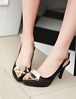 Women's Shoes Stiletto Heel Heels/Closed Toe Pumps/Heels Dress Black/Silver/Gold