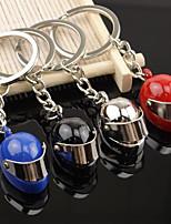 Creative Helmet shaped Hat Key Chain Ring Keyring (Random Color)