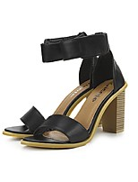 Women's Shoes Chunky Heel Open Toe Sandals Casual Black/Gray/Beige