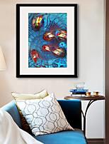 E-HOME® Framed Canvas Art, Abstract Fish Framed Canvas Print