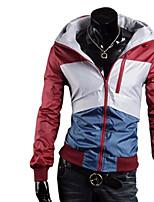 Men's Long Sleeve Regular Trench coat , Patent Leather
