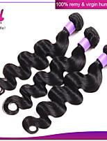 Brazilian Body Wave Human Hair Weaves Body Wave 3Pcs Remy Natural Black Virgin Brazilian Hair Bundles