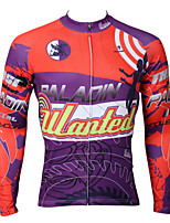 PaladinSport Men's Long Sleeve Cycling Jersey New Style CX385 Angel 100% Polyester