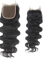 cierre de cordones base del cordón ibeshion parte libre de bases pulgadas brasileño cuerpo virginal del pelo de la onda del pelo humano