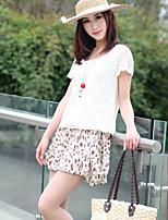 Women's Floral Skirts , Casual/Print Mini