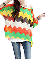Women Pullover Summer Batwing Sleeve Oversize Blouses Tops Clothes