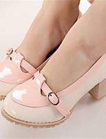 Women's Shoes Chunky Heel Heels Pumps/Heels Outdoor/Dress Black/Pink