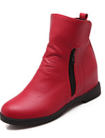 Women's Shoes Wedge Heel Bootie/Round Toe Boots Dress Black/Yellow/Red/White