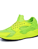 Men's Sneakers Spring / Summer / Fall / Winter Comfort PU Athletic Flat Heel Lace-up Black / Green / Red / White Walking