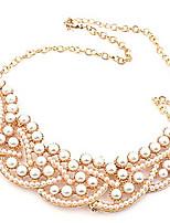Europe and elegant boutique Korean wild temperament luxury genuine pearl false collar short necklace