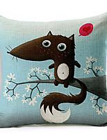 style moderne coton souris de dessin animé / lin taie d'oreiller décoratif