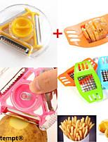 1шт многофункциональный поворотный картофелечистку&1шт нержавеющей стали чипсы вертикальной фрезы чоппер