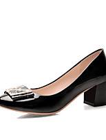 Women's Shoes Synthetic/Patent Leather/Glitter/Rubber Chunky Heel Ballerina/Round Toe/Closed Toe FlatsOutdoor/Office &