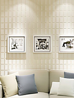 Contemporary 3D Wallpaper Geometric 0.53m*10m Wall Covering Non-woven Paper Wall Art
