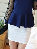 Women's White/Black Skirts , Sexy Mini