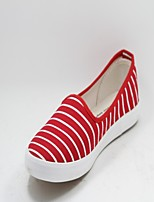 Women's Shoes Fabric Flat Heel Comfort Fashion Sneakers Casual Blue/Red/White/Gray