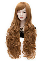 The European and American Wind COS Long Curly Brown Hair Wig 70 cm