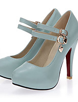 Women's Shoes  Stiletto Heel Round Toe Pumps/Heels Outdoor/Office & Career/Casual Black/Blue/Yellow/White