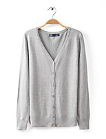Women's Casual/Cute/Party/Work/Plus Sizes Stretchy Medium Long Sleeve Cardigan (Knitwear)